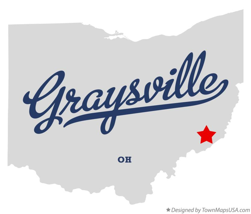 Map of Graysville Ohio OH