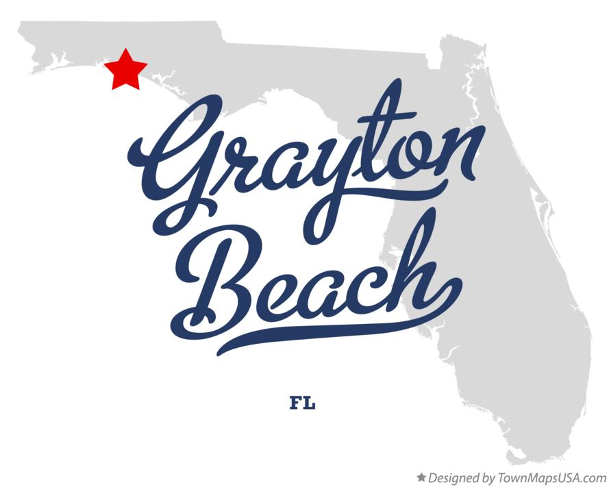 Map of Grayton Beach Florida FL