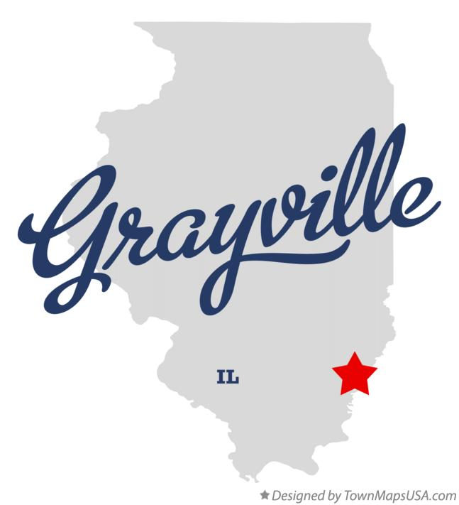 Map of Grayville Illinois IL