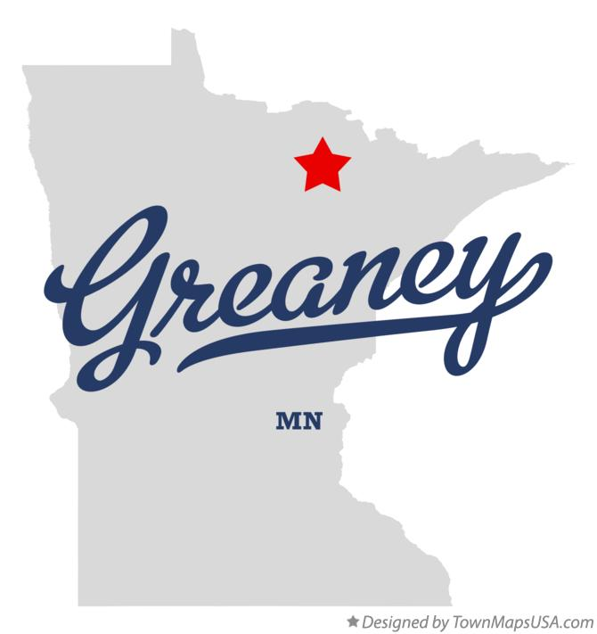 Map of Greaney Minnesota MN