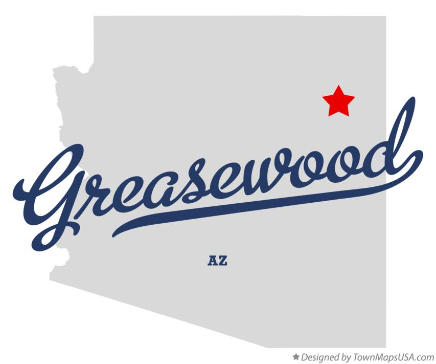 Map of Greasewood Arizona AZ