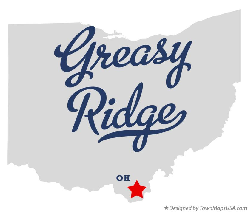 Map of Greasy Ridge Ohio OH