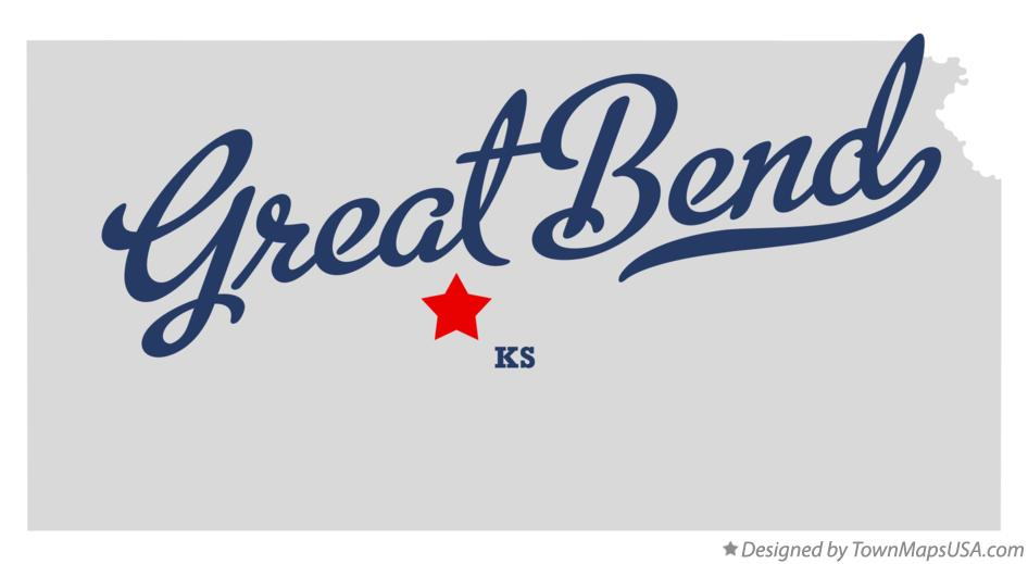 Map of Great Bend Kansas KS