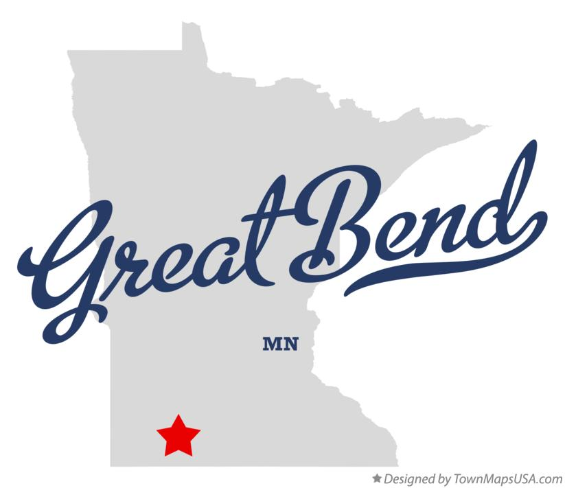 Map of Great Bend Minnesota MN
