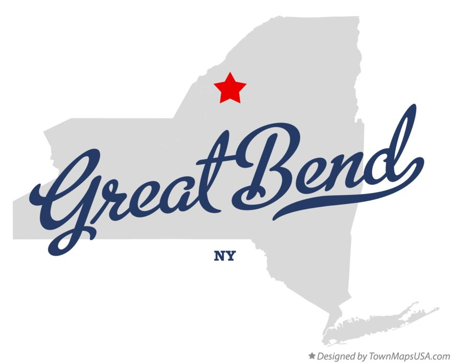 Map of Great Bend New York NY