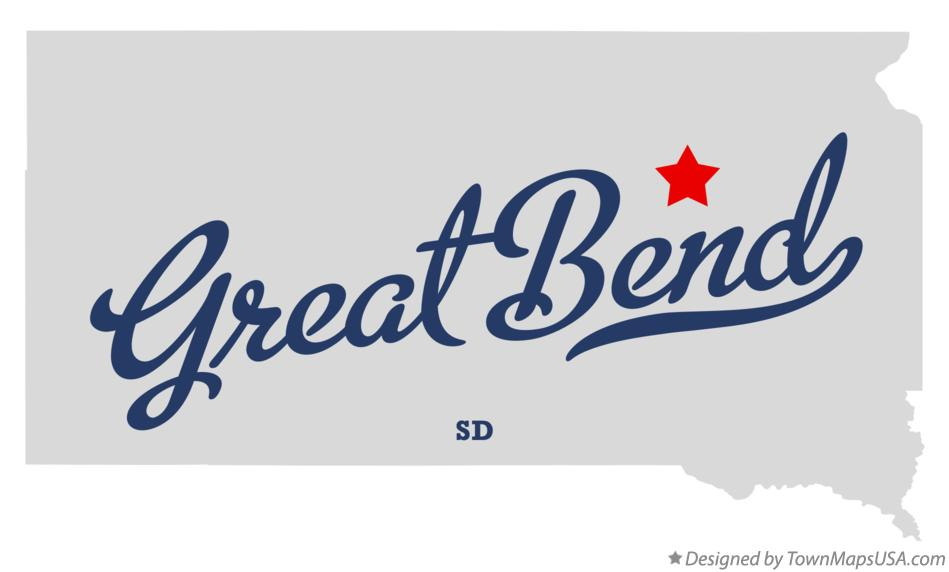 Map of Great Bend South Dakota SD