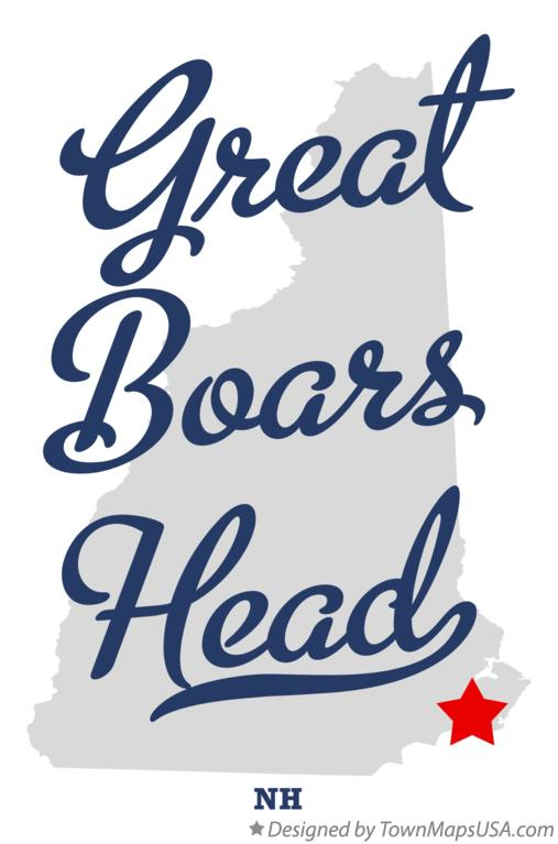 Map of Great Boars Head New Hampshire NH