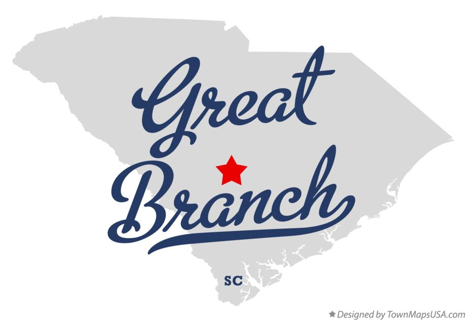 Map of Great Branch South Carolina SC