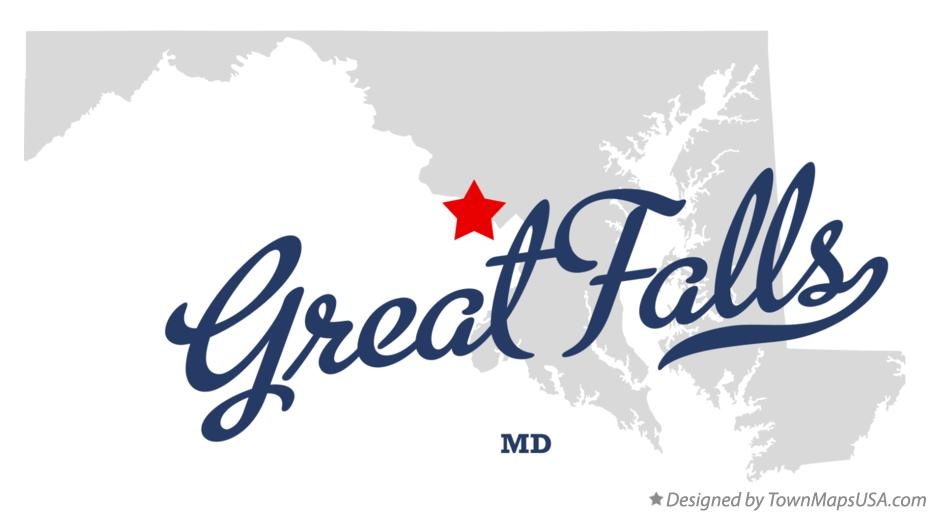 Map of Great Falls Maryland MD