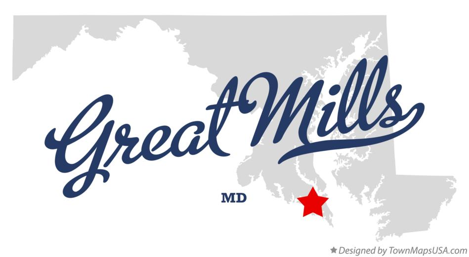 Map of Great Mills Maryland MD