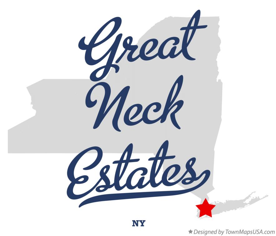Map of Great Neck Estates New York NY