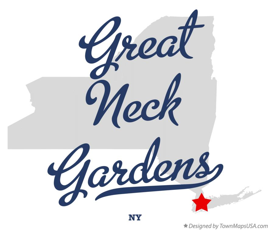 Map of Great Neck Gardens New York NY