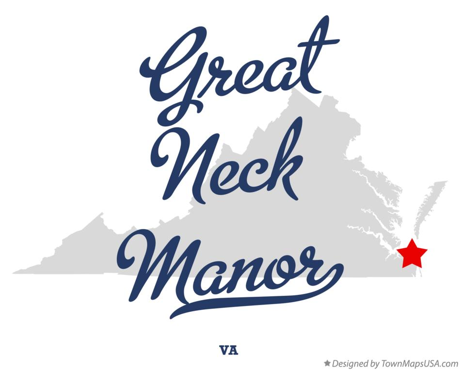 Map of Great Neck Manor Virginia VA