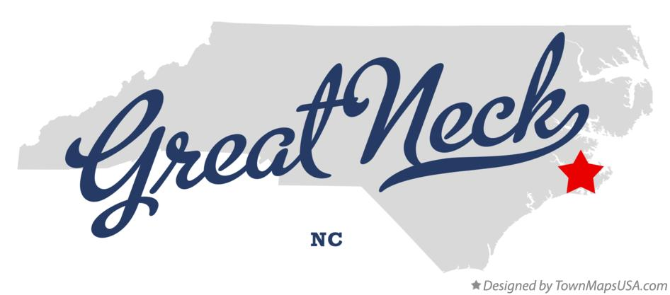 Map of Great Neck North Carolina NC