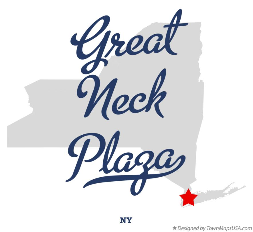 Map of Great Neck Plaza New York NY