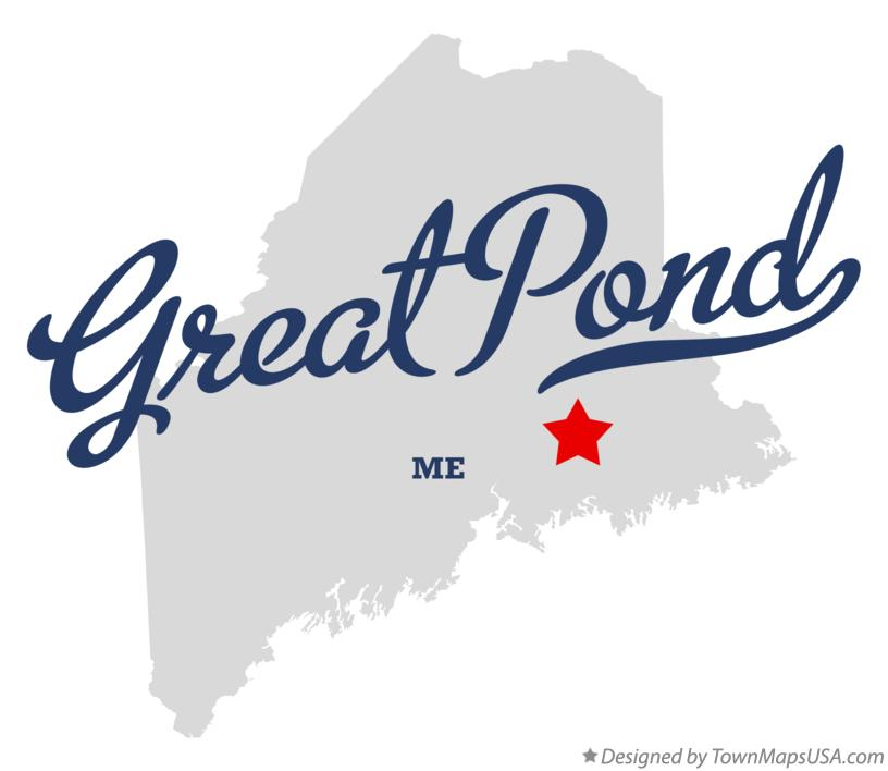 Map of Great Pond Maine ME