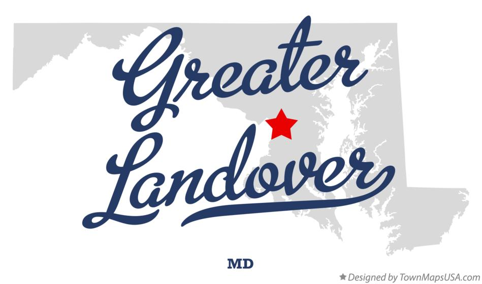 Map of Greater Landover Maryland MD