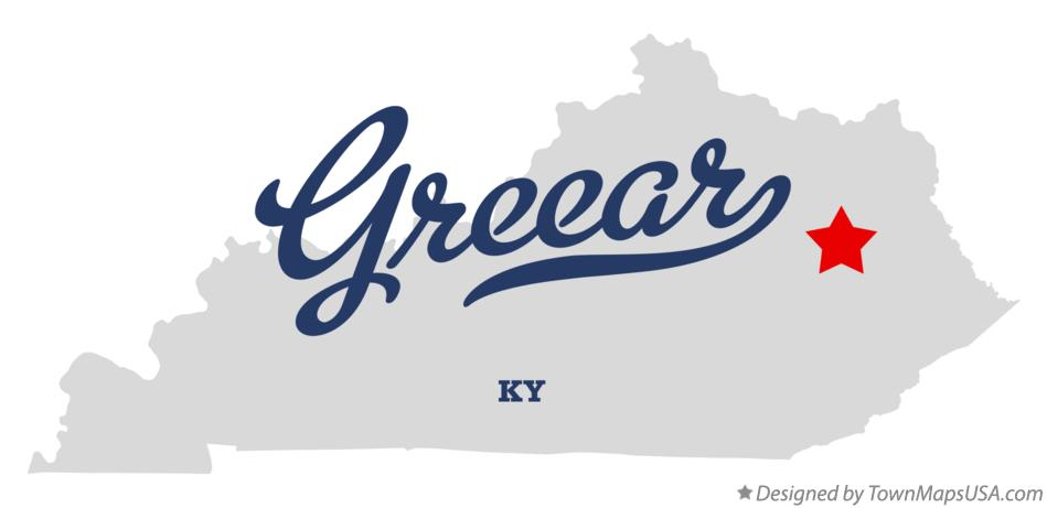 Map of Greear Kentucky KY