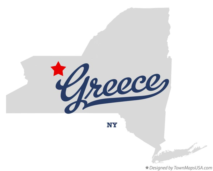 Map of Greece New York NY