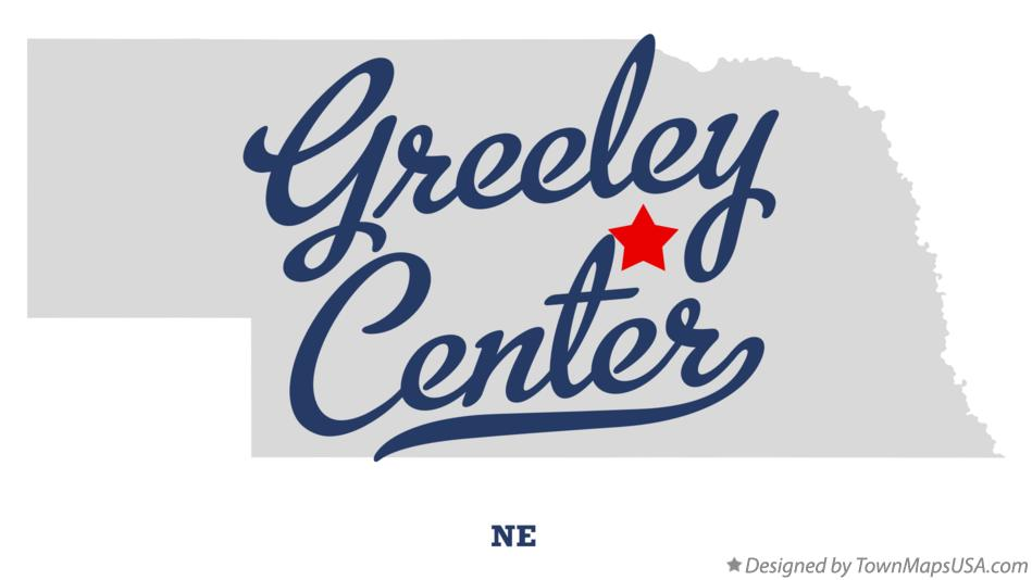Map of Greeley Center Nebraska NE