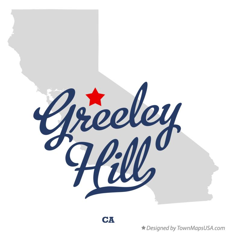 Map of Greeley Hill California CA