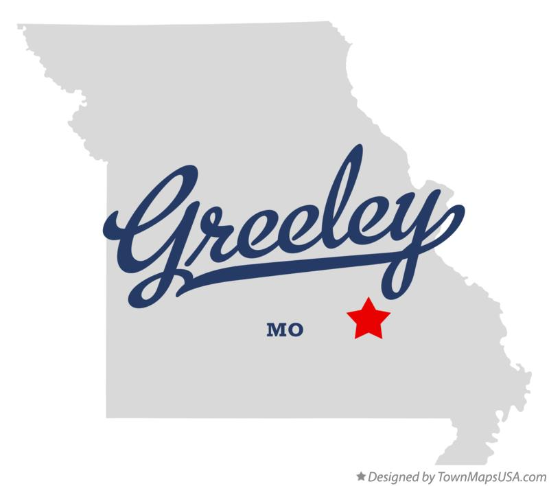 Map of Greeley Missouri MO