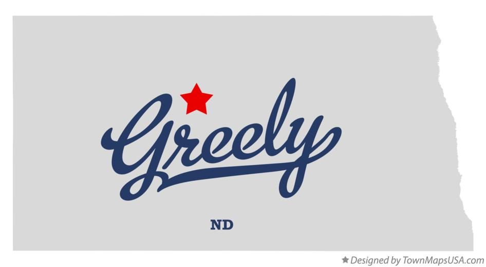 Map of Greely North Dakota ND