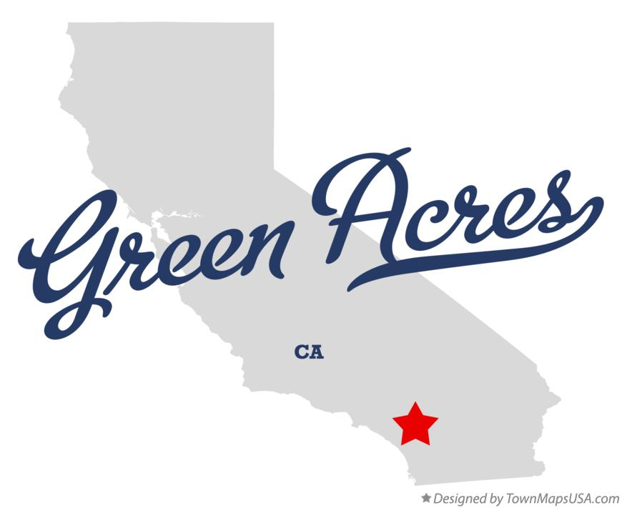 Map of Green Acres California CA