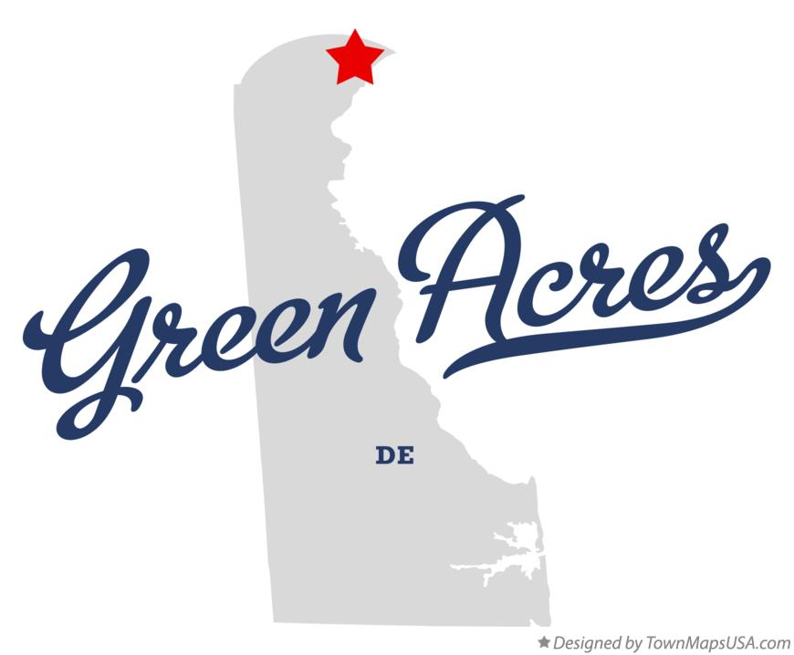 Map of Green Acres Delaware DE