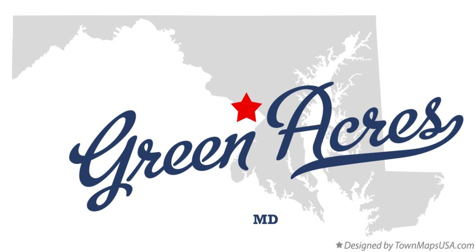Map of Green Acres Maryland MD