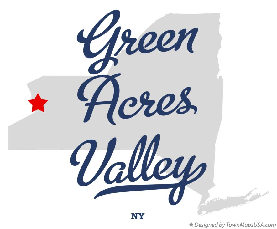 Map of Green Acres Valley New York NY