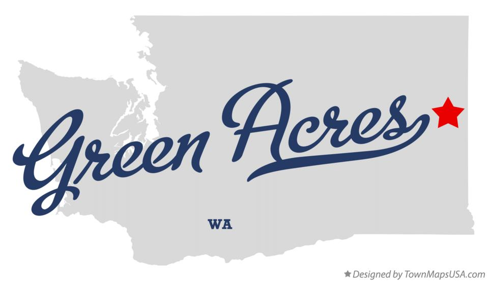 Map of Green Acres Washington WA