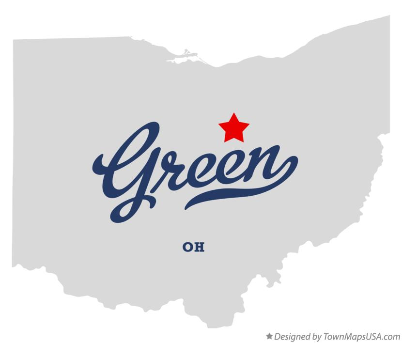 Map of Green Ohio OH