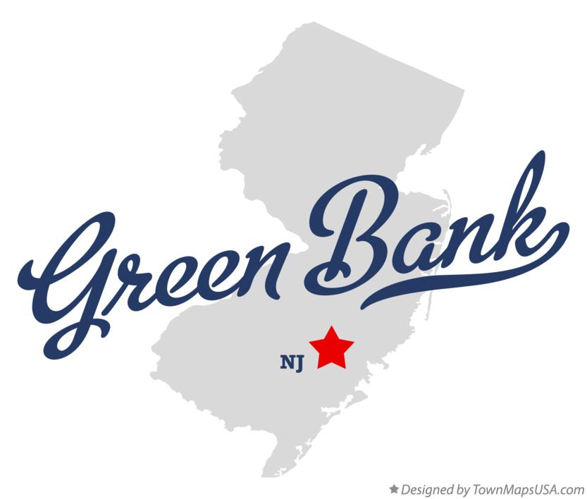 Map of Green Bank New Jersey NJ
