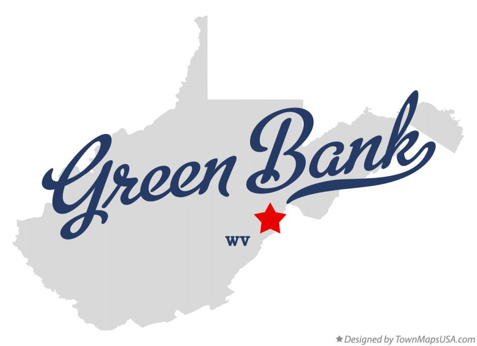 Map of Green Bank West Virginia WV