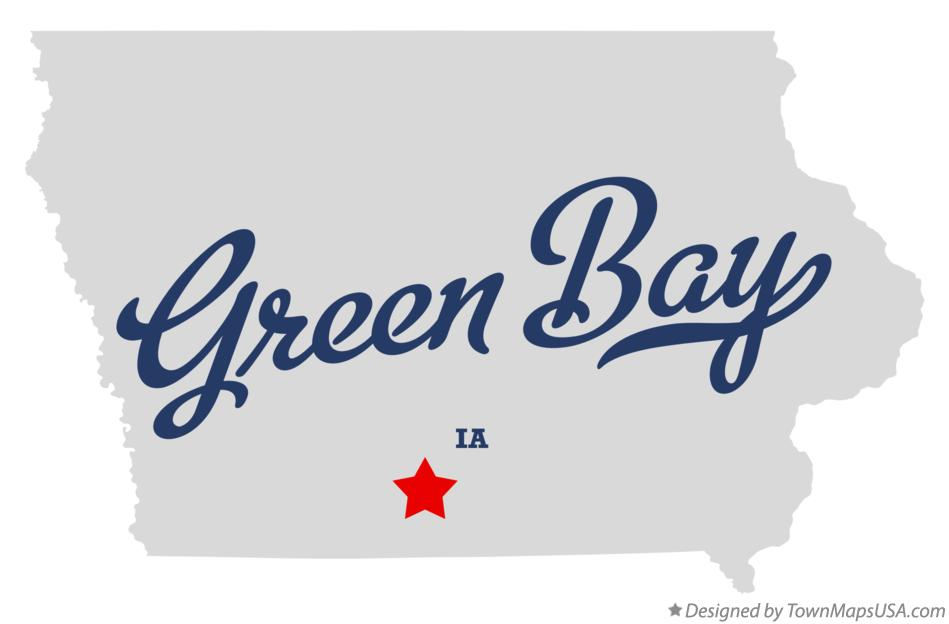 Map of Green Bay Iowa IA