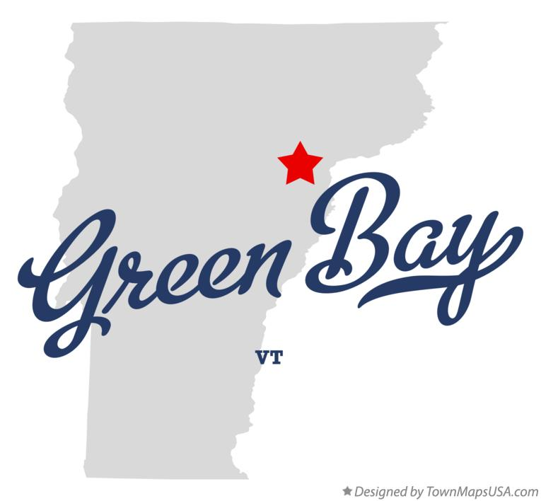 Map of Green Bay Vermont VT