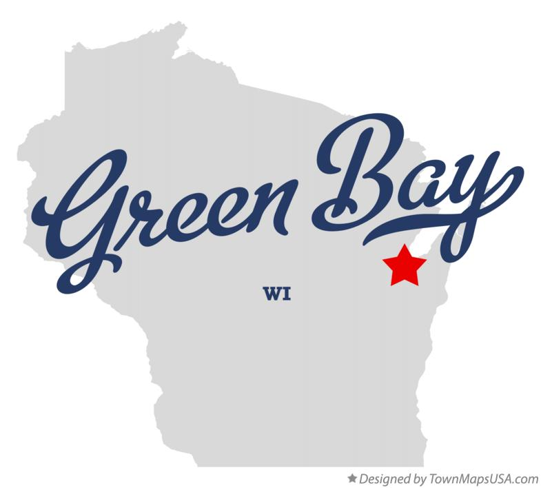 Map of Green Bay Wisconsin WI