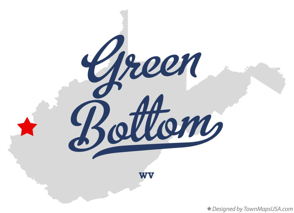 Map of Green Bottom West Virginia WV