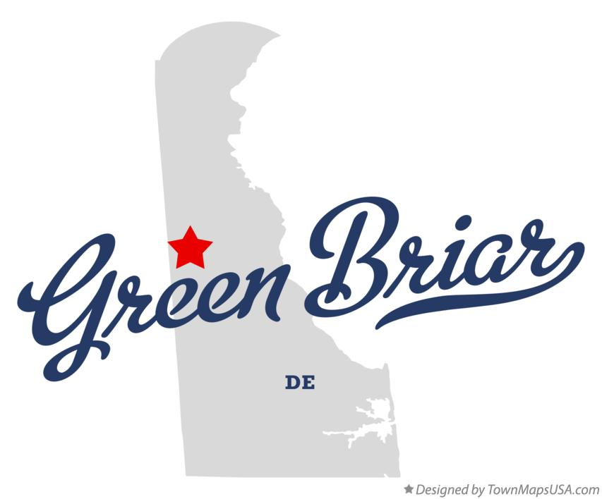Map of Green Briar Delaware DE