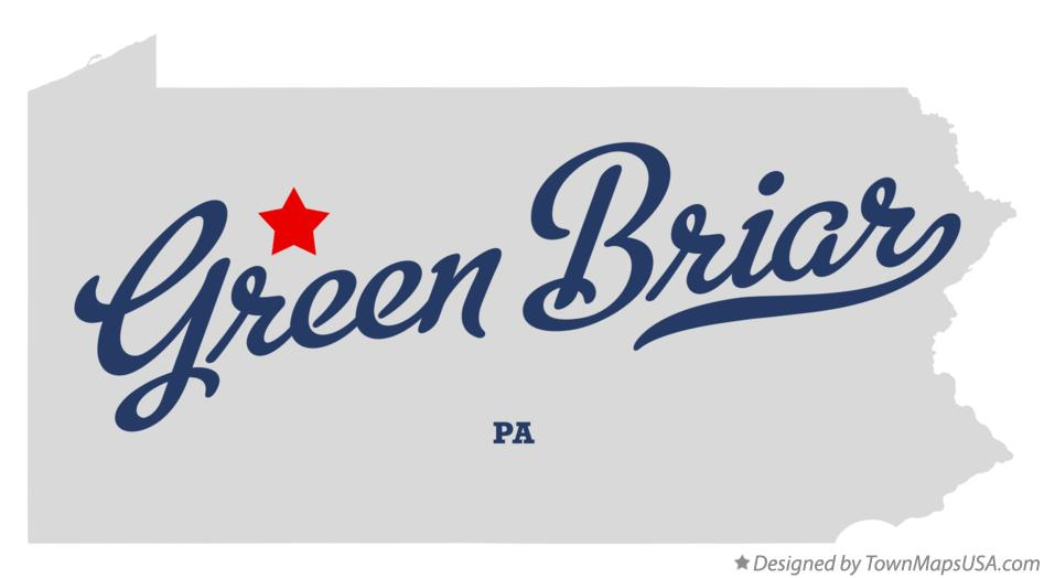 Map of Green Briar Pennsylvania PA