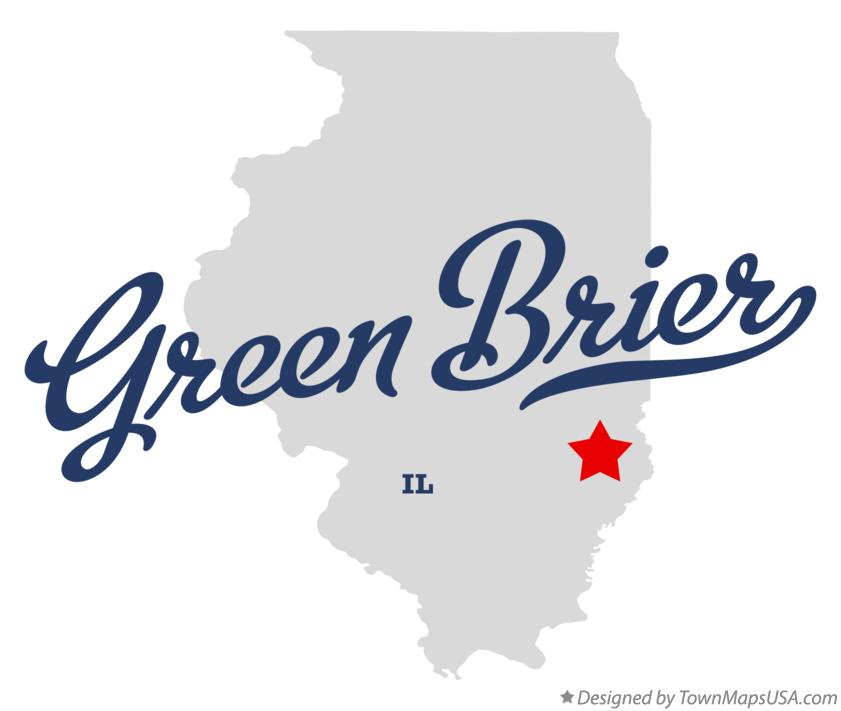Map of Green Brier Illinois IL