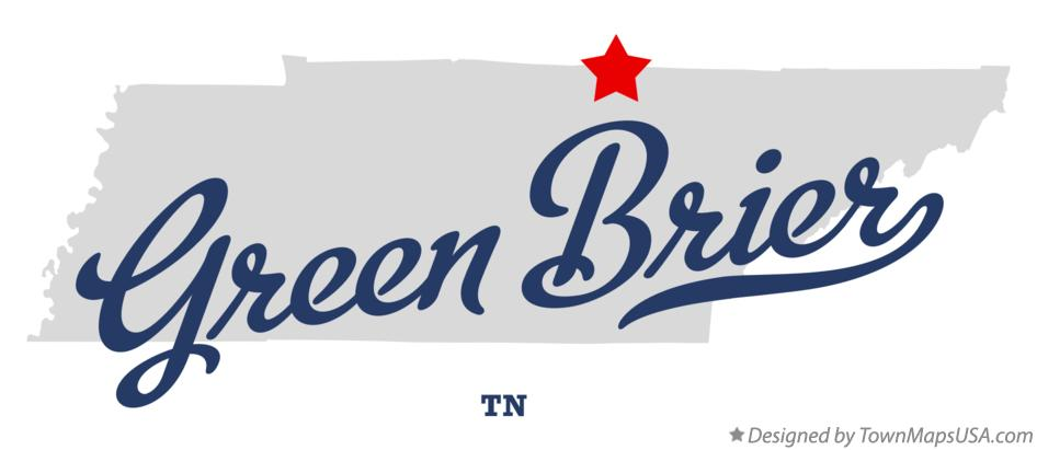 Map of Green Brier Tennessee TN