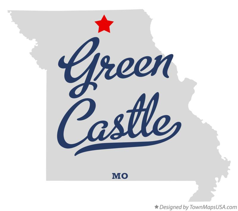 Map of Green Castle Missouri MO