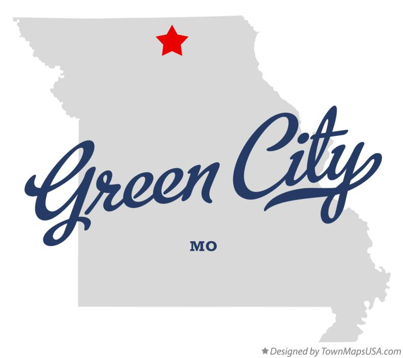 Map of Green City Missouri MO