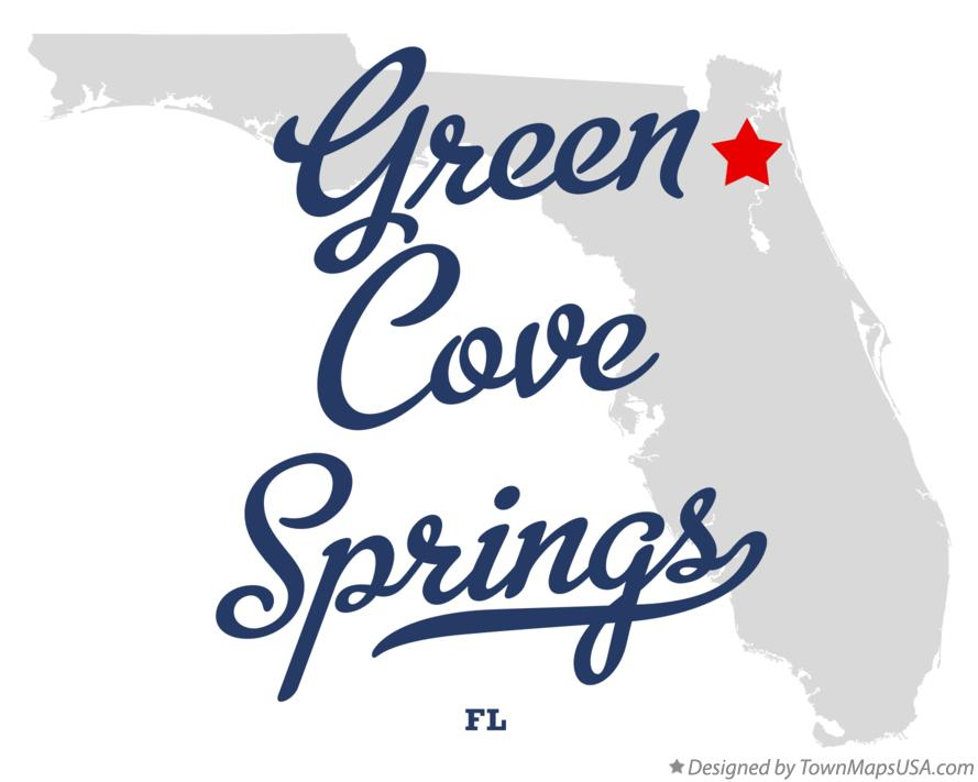 Map of Green Cove Springs Florida FL