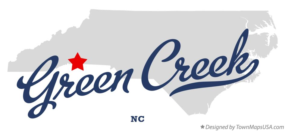 Map of Green Creek North Carolina NC