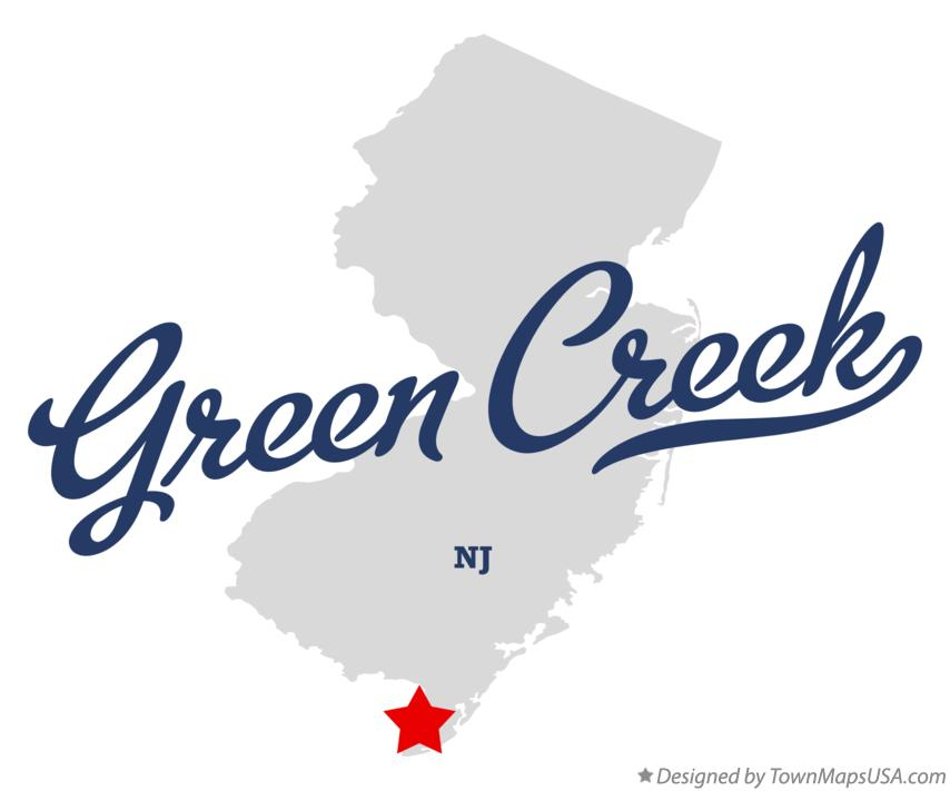 Map of Green Creek New Jersey NJ