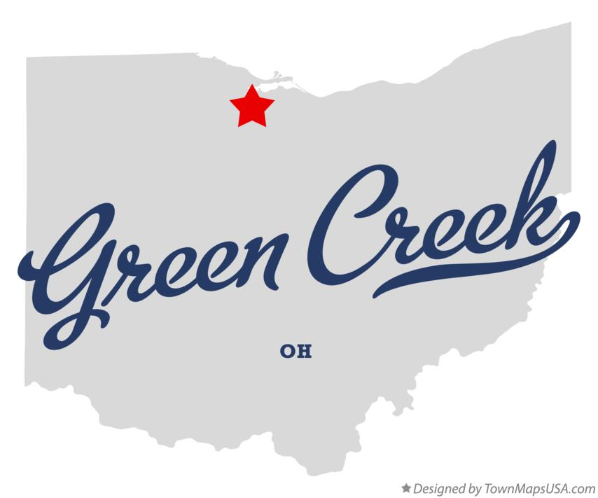 Map of Green Creek Ohio OH