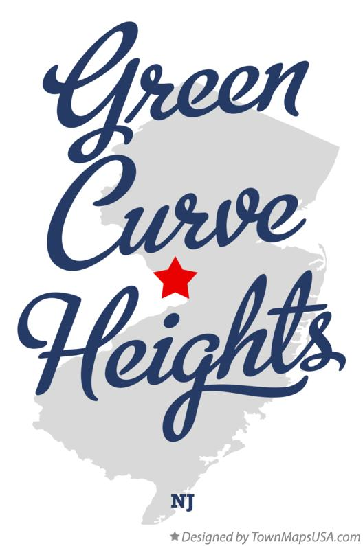 Map of Green Curve Heights New Jersey NJ